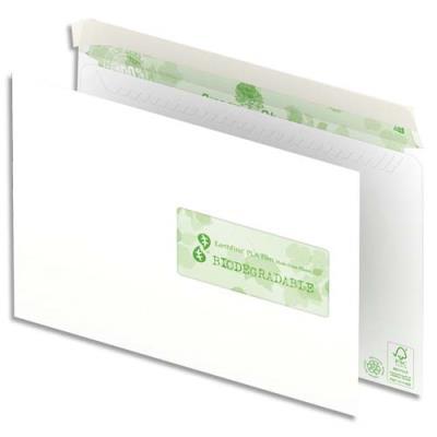 Enveloppes 100% recyclées 162x229 Oxford - blanches - fenêtre 45x100 - auto-adhésive - 90g - boîte de 500 (photo)
