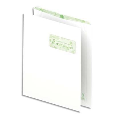 Pochettes 100% recyclées 229x324 Oxford - blanches - fenêtre 45x100 - auto-adhésive - 90g - boîte de 250 (photo)