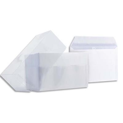 Enveloppe blanche Oxford pour carte de visite - auto-adhésive - 120g - 90 x 140 mm - boîte de 100