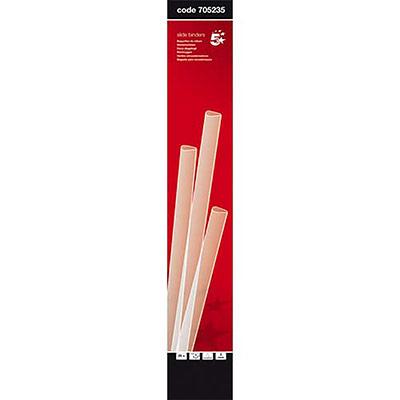 Baguettes à relier manuelle 5 Etoiles - 3 mm/30 feuilles - transparent - boîte de 25 (photo)