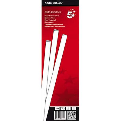 Baguettes à relier manuelle 5 Etoiles - 3 mm/30 feuilles - blanc - boîte de 100 (photo)