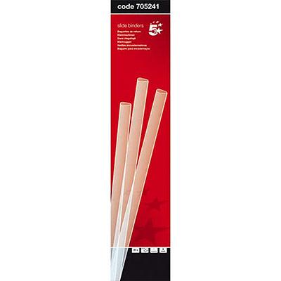 Baguettes à relier manuelle 5 Etoiles - 6 mm/60 feuilles - transparent - boîte de 25 (photo)