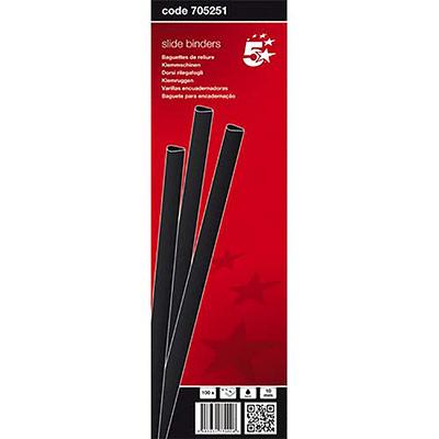 Baguettes à relier manuelle 5 Etoiles - 10 mm/100 feuilles - noir - boîte de 100 (photo)