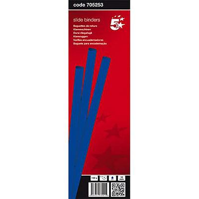 Baguettes à relier manuelle 5 Etoiles - 10 mm/100 feuilles - bleu - boîte de 100 (photo)