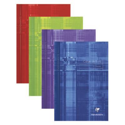 Cahier de bord pour 9 classes - piqûre - 60 pages - 21 x 29,7 cm