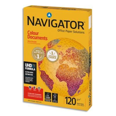 Papier blanc Navigator Colour Document - A4 - 120 g - ramette de 250 feuilles (photo)