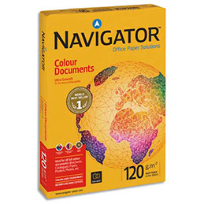 Papier blanc Navigator Colour Document - A3 - 120 g - ramette de 250 feuilles (photo)