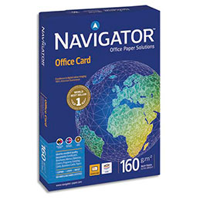 Papier blanc Navigator Office Card - A4 - 160 g - ramette de 250 feuilles (photo)