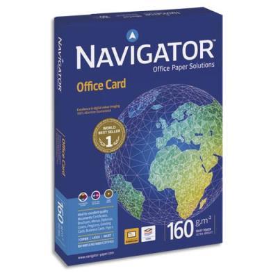 Papier blanc Navigator Office Card - A3 - 160 g - ramette de 250 feuilles (photo)