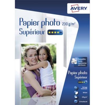 Papier photo Avery - brillant - A4 - jet d'encre - 230g - 35 feuilles (photo)