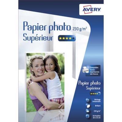 Papier photo brillant Avery - 10x15cm - jet d'encre - 230 g - 50 feuilles (photo)