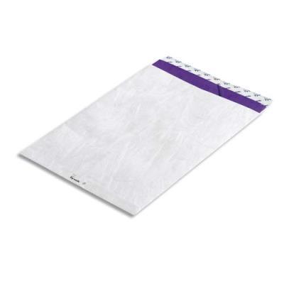 Pochettes blanches Bong en Tyvek - 16,2 x 22,9 cm - boîte de 100 (photo)