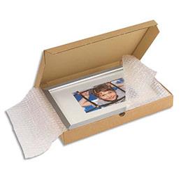 Boîte postale extra-plate en carton brun - L43 x H5 x P31 cm (photo)