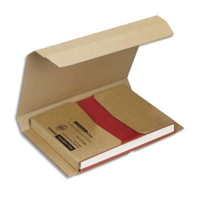 Etui postal en carton brun - fermeture adhésive - L28 x H1 x P22 cm (photo)