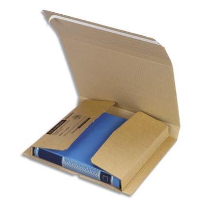 Etui d'expédition en carton brun - fermeture adhésive - 31 x 1 x 22 cm (photo)