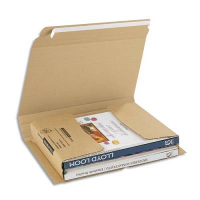 Etui postal en carton brun - fermeture adhésive - L33 x H1 x P25 cm (photo)