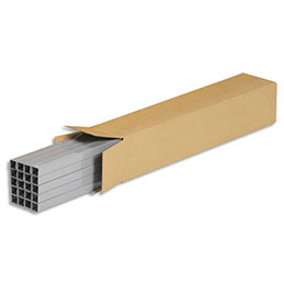Caisse longue en carton brun - simple cannelure - L60 x H10 x P10 cm (photo)