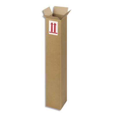 Caisse longue en carton brun - simple cannelure - L80 x H15 x P15 cm (photo)