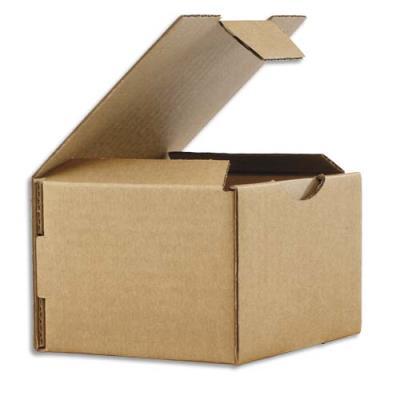 Boîte postale en carton brun - simple cannelure - L12 x H8 x P10 cm (photo)