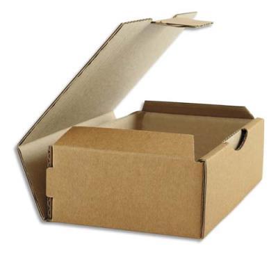 Boîte postale brune d'expédition en carton - 24 x 5 x 17 cm (photo)