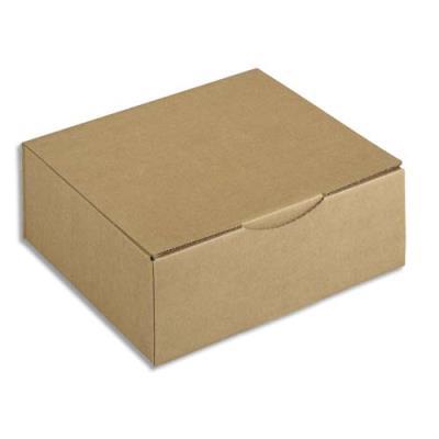 Boîte postale en carton brun - 30 x 10 x 24 cm (photo)