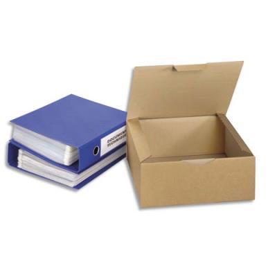 Boîte postale en carton brun - simple cannelure - L33 x H8 x P25 cm (photo)