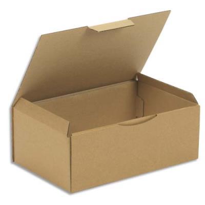 Boîte postale en carton brun - 35 x 13 x 22 cm (photo)