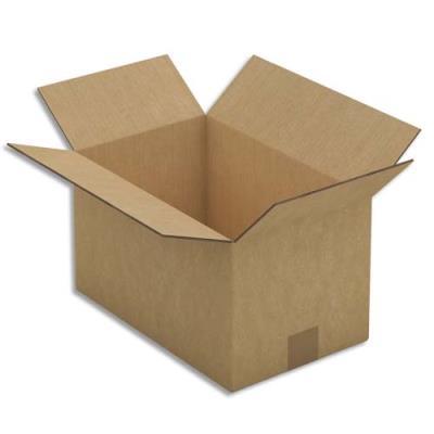Caisse carton brune - double cannelure - 50 x 31 x 31 cm - lot de 15