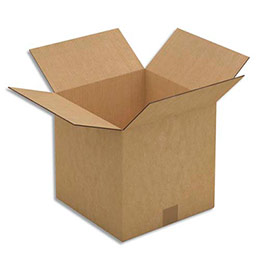 Caisse carton brune - double cannelure - 50 x 50 x 50 cm - lot de 10 (photo)