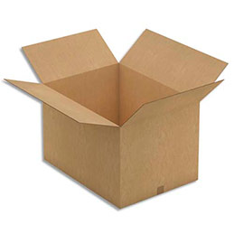 Caisse carton brune - double cannelure - 78 x 40 x 58 cm - lot de 5 (photo)