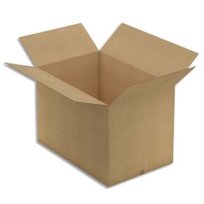 Caisse carton brune grande longueur - double cannelure - 118 x 80 x 78 cm (photo)