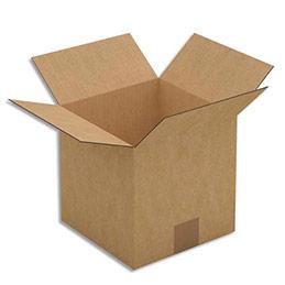 Caisse carton brune - simple cannelure - 20 x 20 x 20 cm - lot de 25