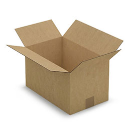 Caisse carton brune - simple cannelure - 35 x 20 x 22 cm - lot de 25 (photo)