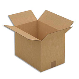 Caisse carton brune - simple cannelure - 35 x 25 x 23 cm - lot de 25 (photo)