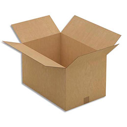 Caisse carton brune - simple cannelure - 54 x 32 x 36 cm - lot de 20 (photo)