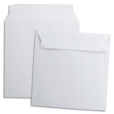 Enveloppes carrées 220 x 220 mm GPV - blanches - 120 g - auto-adhésives - boîte de 500
