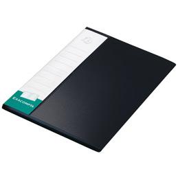 Porte-vue Up-line, formatA4, 40pochettes, porte-étiquette à 3faces, polypropylène, noir (photo)