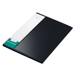 Porte-vue Up-line, formatA4, 80pochettes, porte-étiquette à 3faces, polypropylène, noir (photo)