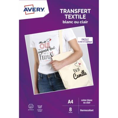 Feuilles de transferts Avery pour T-shirt noir ou foncé - boîte de 4 feuilles (photo)