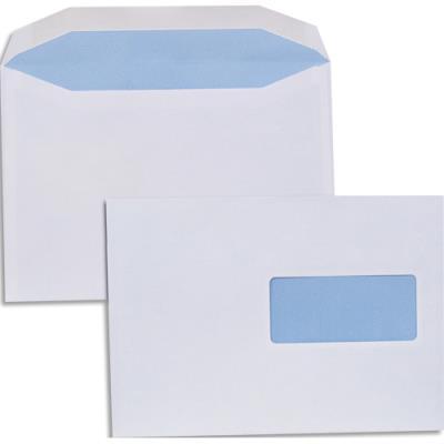 Enveloppes pour mise sous pli automatique - 80g - format C5 162 x 229 - fenêtre 45x100 - boîte de 500 (photo)