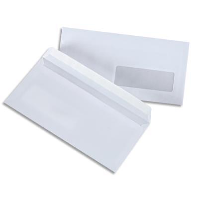 Enveloppes blanches auto-adhésives - format DL 110X220 mm - 100g - boîte de 500