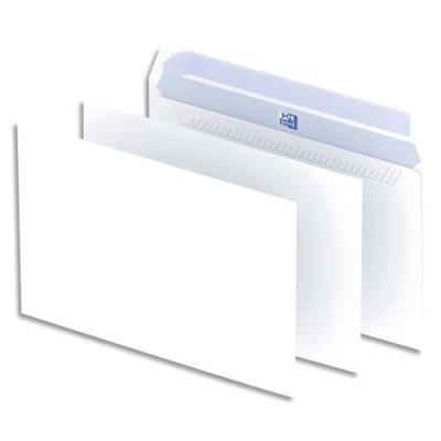 Enveloppes 162x229 Oxford - blanches - auto-adhésives - 90g - boîte de 500