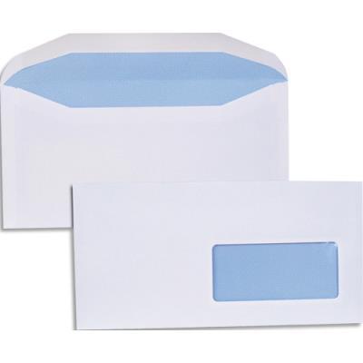 Enveloppes pour mise sous pli automatique - 80g - format DL2 114 x 229 - fenêtre 45x100 - boîte de 1000 (photo)