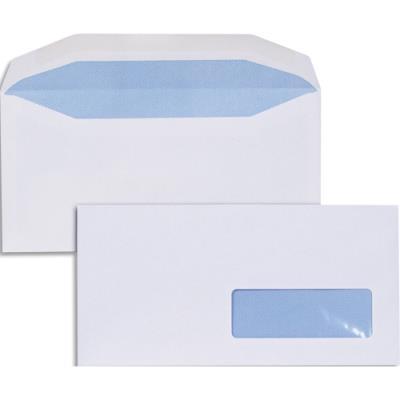 Enveloppes pour mise sous pli automatique - 80g - format DL2 114 x 229 - fenêtre 35x100 - boîte de 1000 (photo)