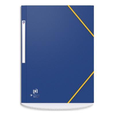 Chemise 3 rabats à élastique Elba Boston - en carte lustrée 5/10e - bleu/noir (photo)