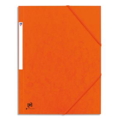 Chemise 3 rabats à élastique Elba Boston - en carte lustrée 5/10e - orange/noir