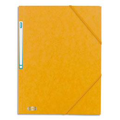Chemise 3 rabats à élastique Elba Boston - en carte lustrée 5/10e - jaune/noir (photo)
