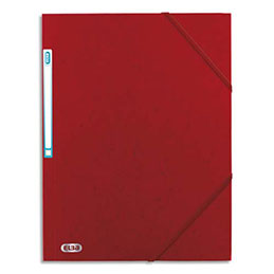 Chemise 3 rabats à élastique Elba Boston - en carte lustrée 5/10e - rouge/noir (photo)