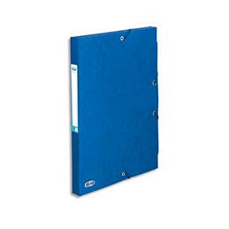 Boîte de classement à élastiques Elba Boston - en carte lustrée 7/10e - dos 2,5 cm - bleu (photo)