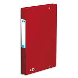 bo te de classement lastiques elba boston en carte lustr e 7 10e dos 3 5 cm rouge. Black Bedroom Furniture Sets. Home Design Ideas